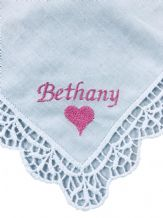Personalised Lace Handkerchief